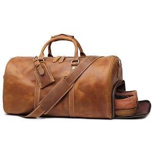 Mens Duffle Retro Leather bag(Brown)
